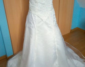 Elven style wedding dress rebroder fabric beaded Valentino T42 single model