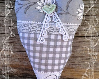 Provence Lavender filled fabric heart