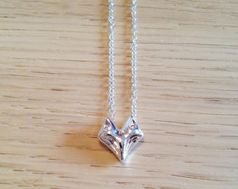 fox necklace gold or silver