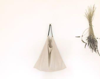 Large Cotton/Linen bag (48cm x 48cm), leather handle bag, tote bag, cotton bag, shopping bag, grocery bag, beach bag, shoulder bag