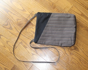 Brown Striped Purse