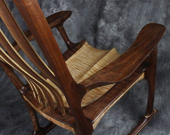 Sam Maloof / Hal Taylor Inspired Sculpted Rocking Chair