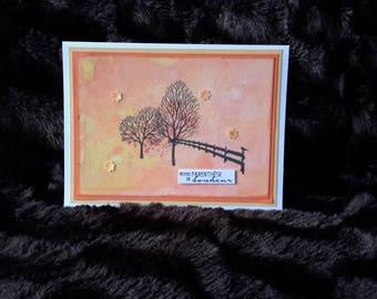 Watercolor fall card