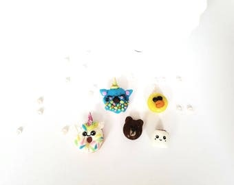 4 pc kawaii decoden cabochons