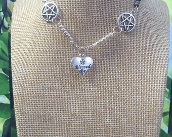 Witch jewelry Wiccan necklace Witch necklace Pagan jewelry Wiccan jewelry Pentagram Necklace Witch Witchcraft Metaphysical Wicca