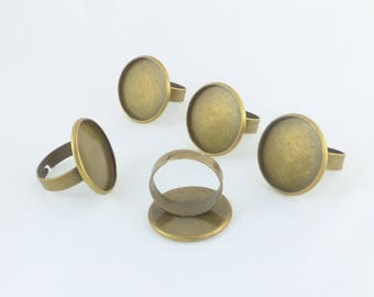 10 support ring bronze cabochon 20 MM