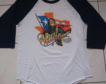 Vintage Willie Nelson threequater shirt (rare and hard to find)