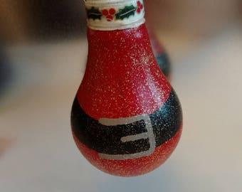 Santa's Belt Lightbulb Ornament