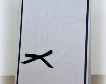 Black and white bereavement sympathy card simple and elegant