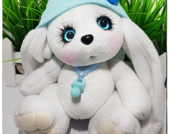 Soft toy bunny, Stuffed Bunny toy, Plush Bunny, Stuffed Rabbit, Stuffed toy, Woodland Stuffed Animals, Handmade Bunny toy Easter souvenir