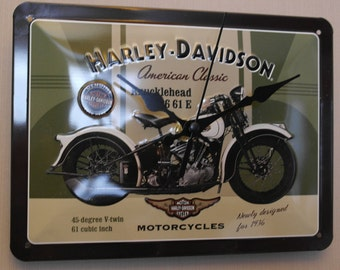 Harley davidson clock sign retro