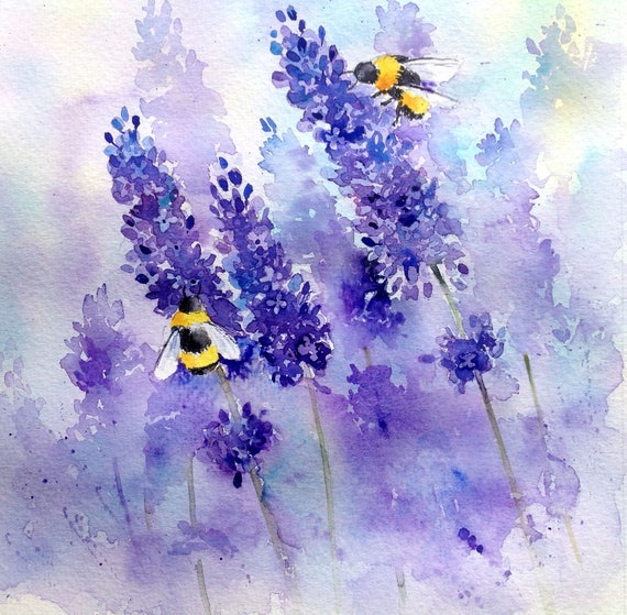 25 Best Ideas About Lavender Paint On Pinterest: Bees And Lavender Step By Step Painting Project