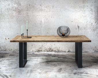 Reclaimed wood table | Old wooden table | Table industrial | Dining table | Solid wood table | Reclaimed wood