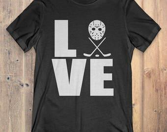 Hockey T-Shirt Gift: Love Hockey