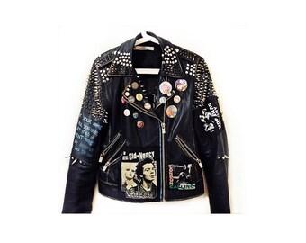 Customised Punk Leather & Vegan Leather Jackets