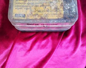 Vintage, Gasfoe respirator TIN ONLY , steampunk,