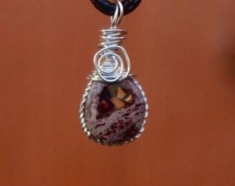 Teardrop Purple Opal Pendant
