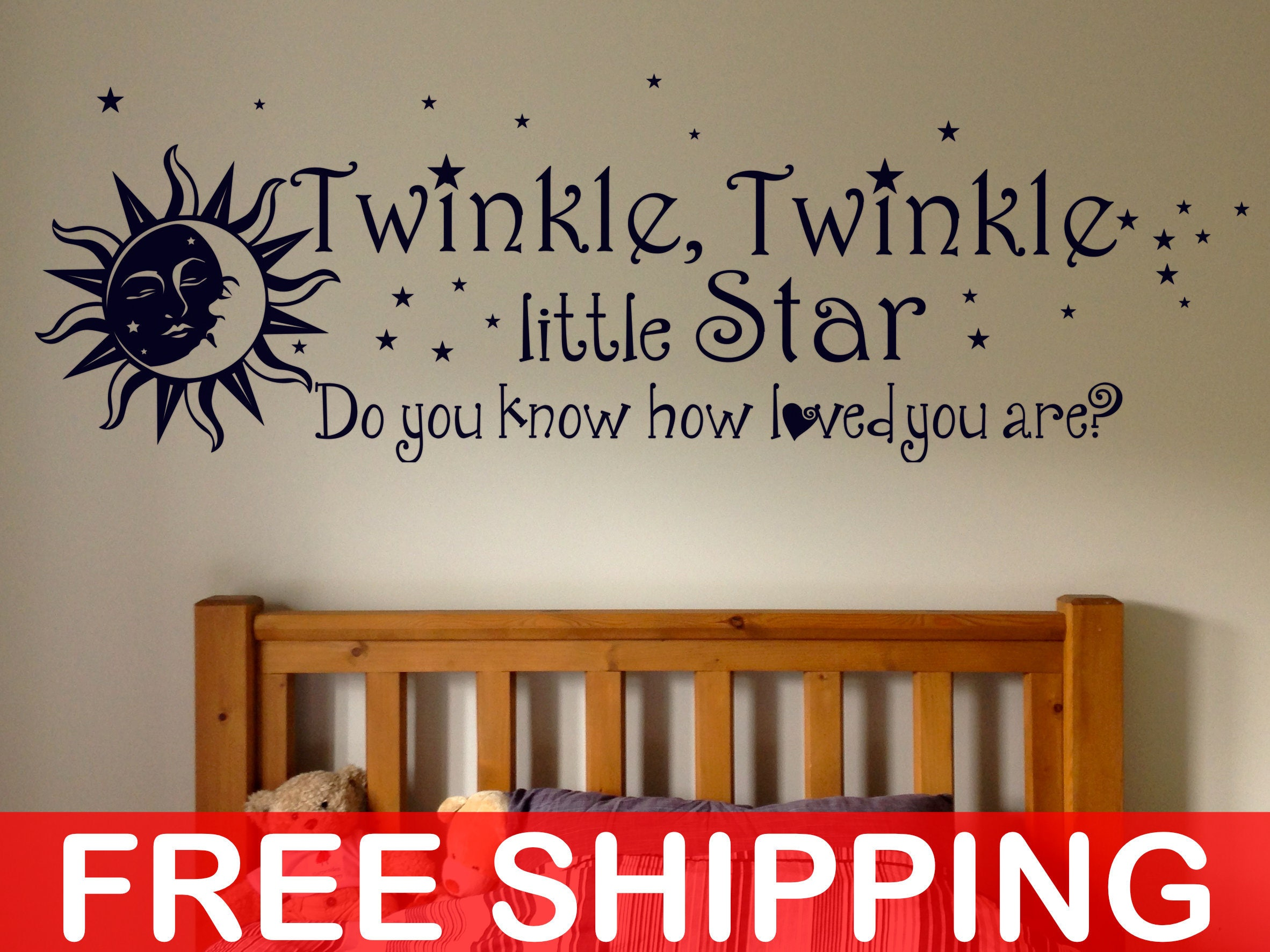 Twinkle Twinkle Little Star Do You Know How Loved You Are, Wall Decal,  Sticker, Wall Decor, Baby Shower, Kids Rooms, Children, Nurseries Part 74