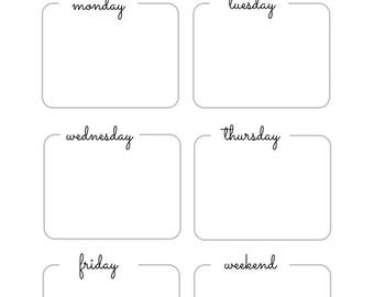 Letter size/Weekly Planner/Weekly Schedule/Weekly Scheduler/Weekly Planner Printable/Weekly Schedule Printable/Printable Planner