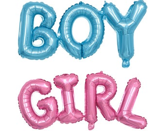 Pink Blue Foil Girl Boy Baby Shower Gender Reveal Announcement Birthday Party New Baby Helium Air Balloon