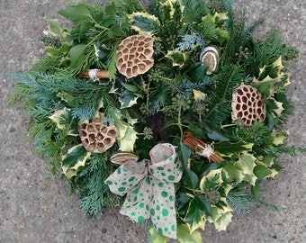 14 inch (35cm) approx Mossed Wreath