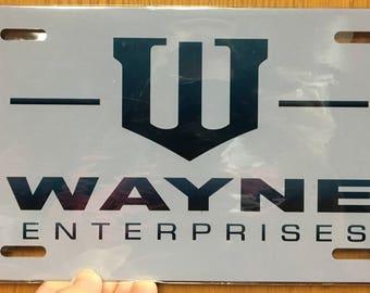 Wayne Enterprises License Plate