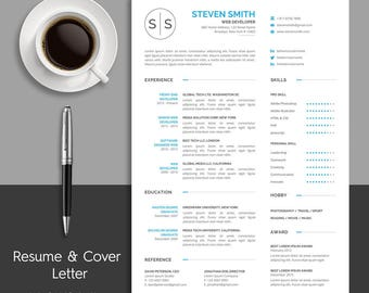 Clean Resume Template & Cover Letter Template