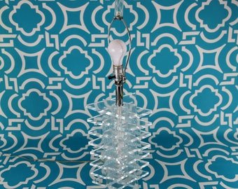 Sliced and Stacked Lucite Lamp