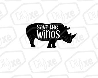 Save The Winos SVG // Rhino SVG // Animal SVG