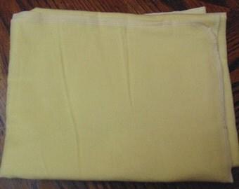 Yellow baby blanket
