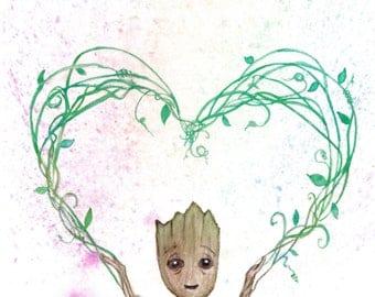 Baby Groot - Poster Print