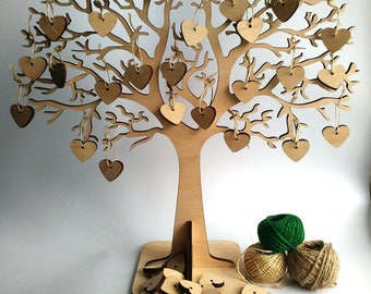 Rustic Wedding Wishing Tree Wedding guestbook Wedding wish tree Alternative guest book Keepsake guestbook Wishing tree with 50 tags