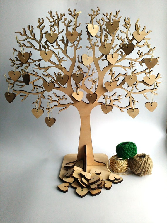 Rustic Wedding Wishing Tree Guestbook Wish