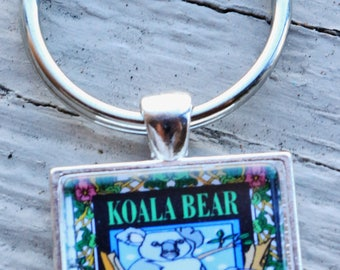 KOALA BEAR ON branch keychain
