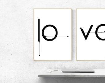 Love Printable Wall Art Printable Love Print Love Wall Art Love Poster Love Prints Digital download Gift idea Download Love Posters
