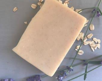 Lavender and Oatmeal Goat Milk Soap, Handcrafted Soap, Lavender and Oatmeal Soap, Goat Milk Soap, Goat's Milk Soap, Essential Oil Soap