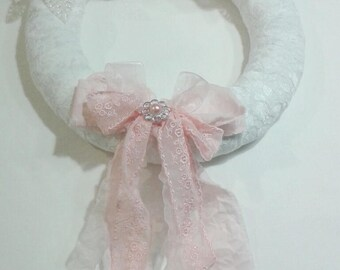 Couronne shabby chic fleurie