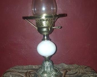 Vintage Milk Glass Table Lamp