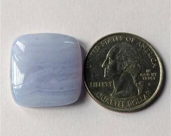 21.45 x 20.60 mm, Square/coushan Shape Blue Lace Agate Cabochon/Attractive Blue Lace Agate/wire wrap stone//Pendant Cabochon/SemiPrecious