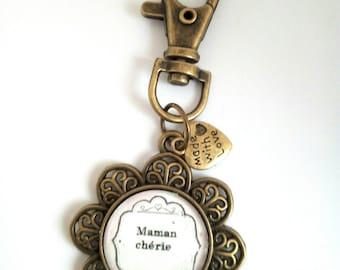Personalized Mommy keychain