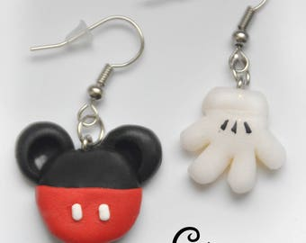 Mickey and his glove earrings