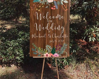 Welcome Wedding Decor Sign