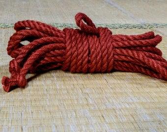 Jute Rope for Shibari Kinbaku - Advanced Kit of Red Coloured Rope
