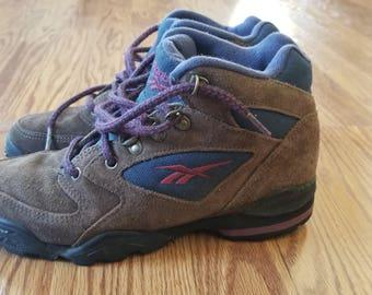 Vintage 90's Reebok Leather Hiking Boots