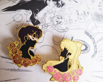 Sailor moon portraits// tuxedo mask enamel pin