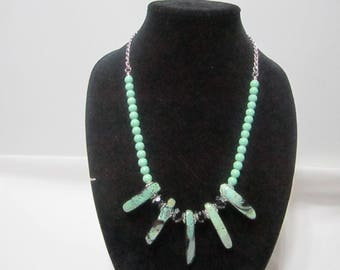 Handmade Green Agate Necklace