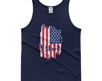 I Stand - American Pride Patriotic National Anthem American Flag Football Boycott Men's Muscle Tank Top