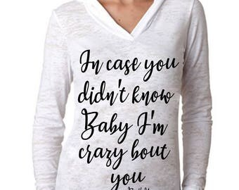 "Brett Young ""In case you didn't know"" Hoodie - *PREMIUM QUALITY* Vinyl Pressed Next Level Apparel Burnout Hooded Pullover"