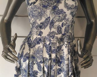 The small flower dress (printed cotton winter collection)