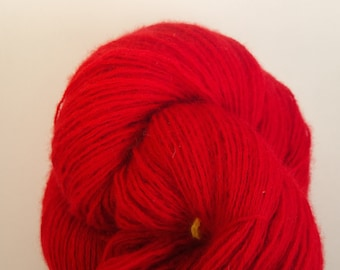 Crimson cashmere sport weight recycled yarn - INV1010